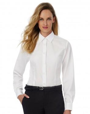 B/&C Oxford LSL Women Damen Bluse Langarm SWO03